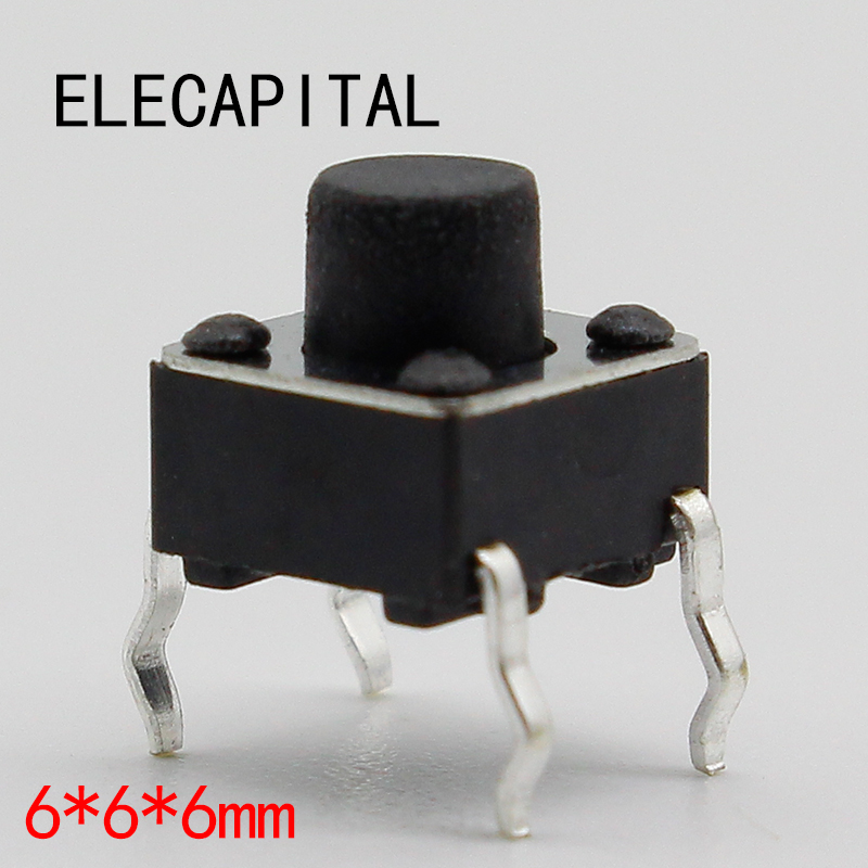 50pcs/lot 6x6x6MM 4PIN G91 Tactile Tact Push Button Micro Switch Direct Self-Reset DIP Top Copper Free Shipping 50pcs lot smt 3x4x2 5mm 4pin tactile tact push button micro switch g75 self reset car remote control switch free shipping
