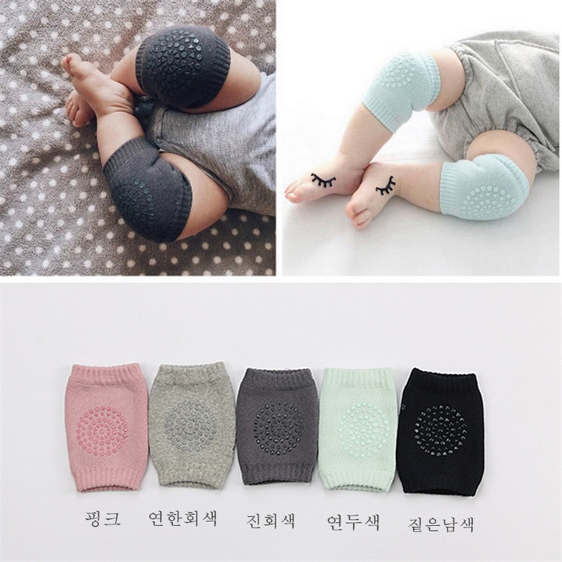 Infant Toddler Knee Pad Safety Kids Soft Anti-slip Crawling Baby Elbow Cushio ZH