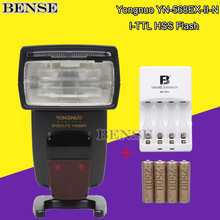 YONGNUO YN-568EX YN-568 EX Wireless Esclavo TTL Speedlite de Destello + AA/2500 Mah kit de carga Para Nikon