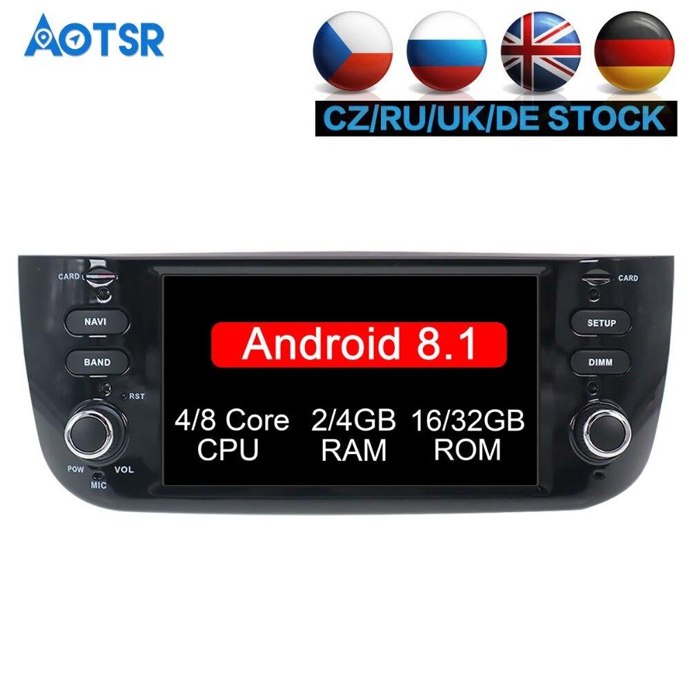 Date Android 8.1 Lecteur DVD de Voiture Pour Fiat Punto LINEA 2009-2015 6.2 pouce Radio Enregistreur Multimédia stéréo IPS écran Livraison CARTE