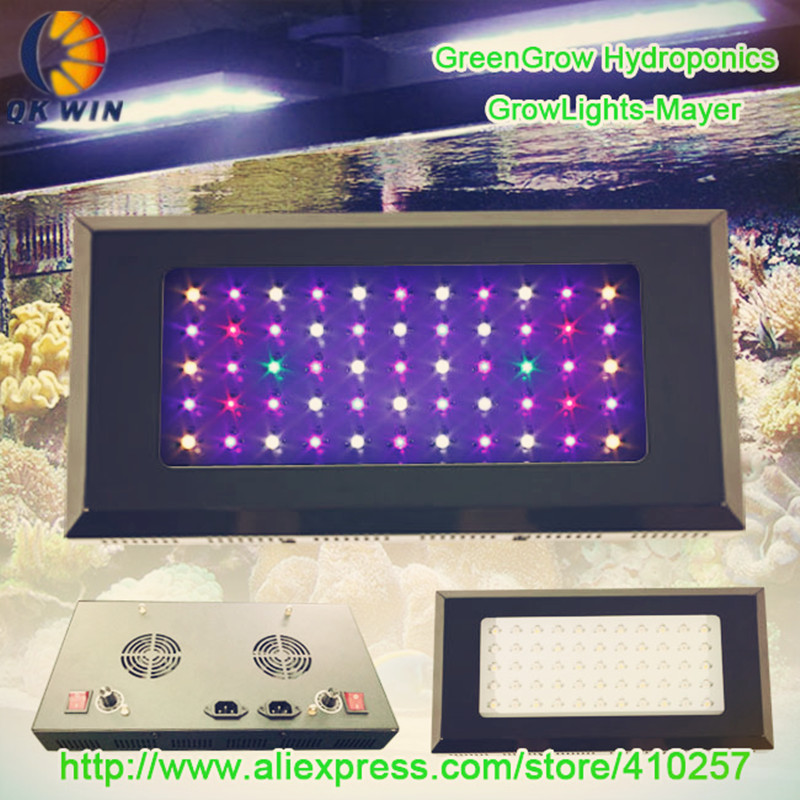 dimmable Led aquarium light 120W for coral reef tank lighting with 55pcs 3W Epistar chip led,high quality,Dropshipping