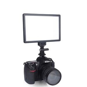 Image 2 - Viltrox L116T lcd ekran iki renkli ve kısılabilir ince DSLR Video led ışık isteğe bağlı pil + AC adaptörü kamera DV kamera için kamera