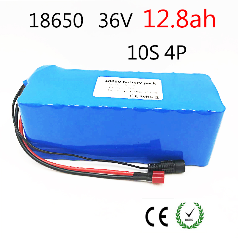 Pack de batterie pour vélo électrique 18650 batterie li-ion 10 S 4 P 36 V 12ah 500 W Haute Puissance et Capacité 42 V Moto Scooter avec BMS