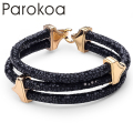 2015 Hot Sell! Fashion Luxury Brand 9 colors To Choose stingray Leather Rope chain Men Bracelet