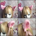 Japanese Harajuku Maid Cosplay Headdress Lovely Cat Ear Ribbon Sweet Lolita Girls Headband
