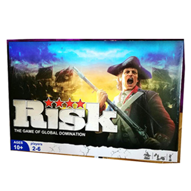 Risk The Game Of Global Domination Board Game 2-6 Players to Play Best Gift Family/Party/Friends Funny Strategy Cards Game