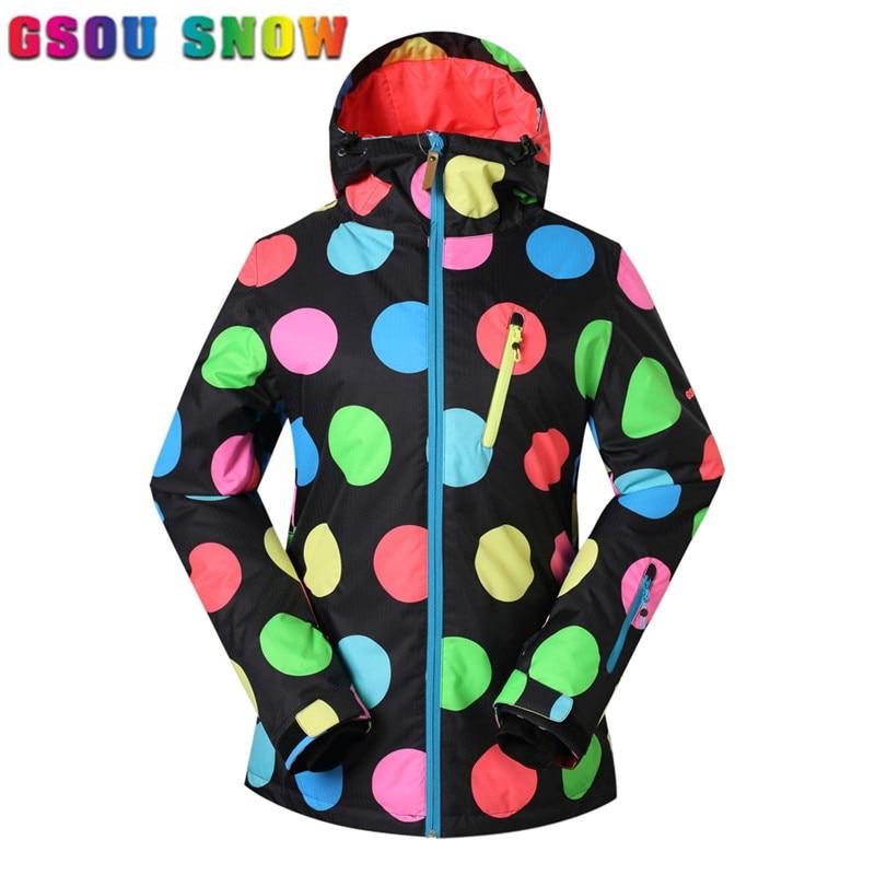 Prix pour Gsou snow ski veste femmes imperméable coupe-vent respirant garder au chaud neige veste de ski en plein air costume de sport pour les femmes de ski