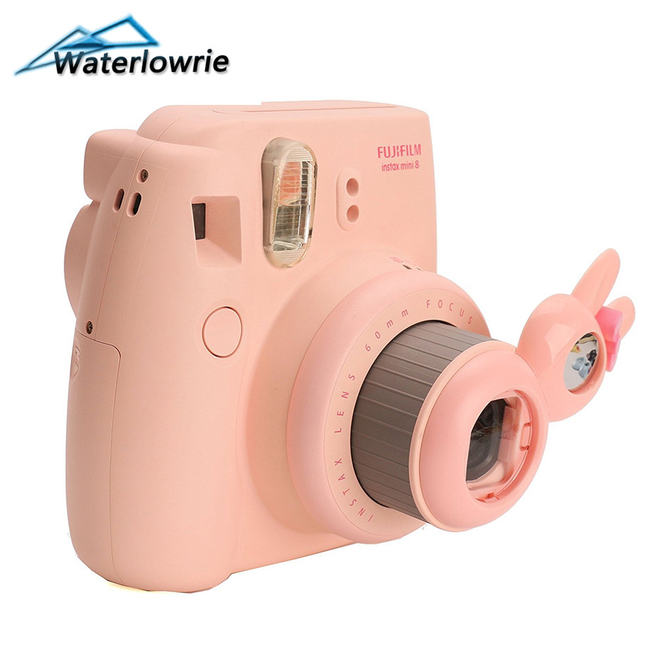 Waterlowrie Close Up Lens Selfie Self-portrait Mirror Cute Rabbit Stylefor Fuji Instax Mini 7S 8 8+9 Polaroid Camera Accessories