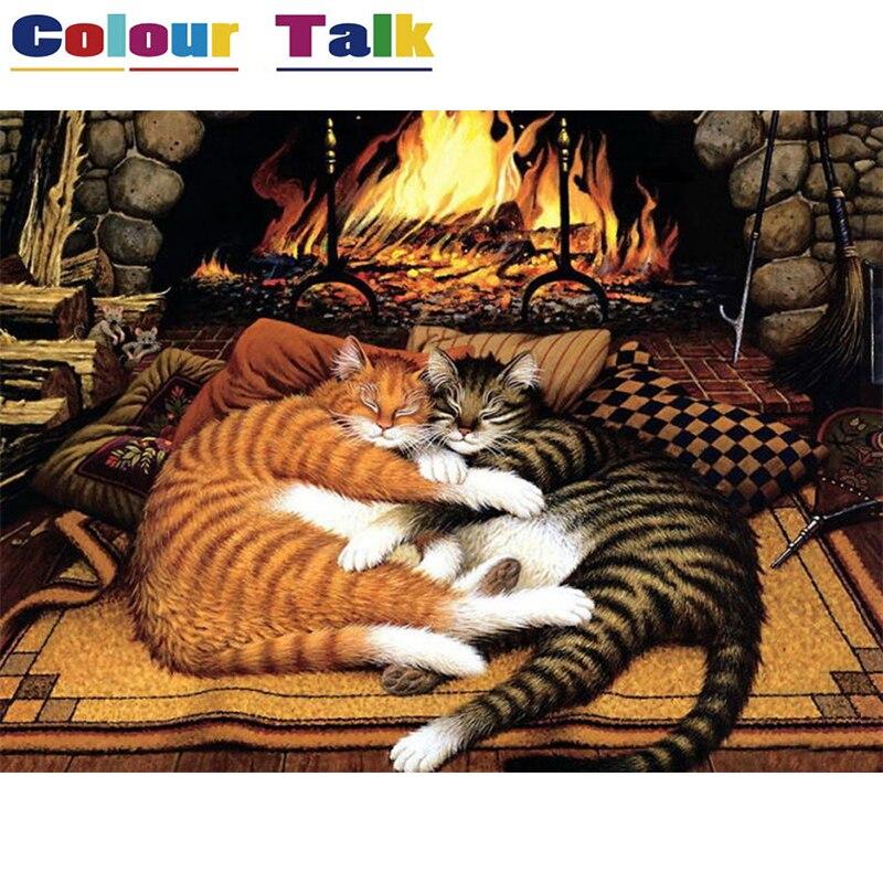 Schon Ölgemälde Färbung Durch Zahlen Tier Moderne Unframed Leinwand Malerei  Dekoration Bilder Für Wohnzimmer Malerei P 0675