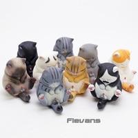 Kawaii Cat Bells Vol.3 Cats Neko Q Version PVC Figures Dolls Collectible Model Toys 9pcs/set
