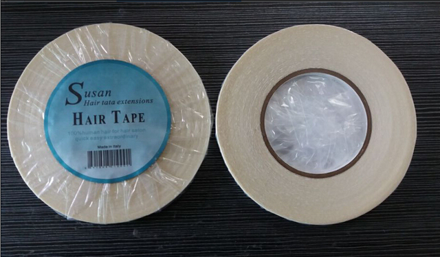 Susan  1cmx 36 yards long time water proof  tape Super quality blue tape  hair extension tape  hair tape