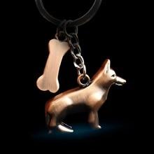 German Shepherd Dog Key Chain Animal Jewelry Girls Pet  Gift Keychain fashion creative ring Car wallet Pendant