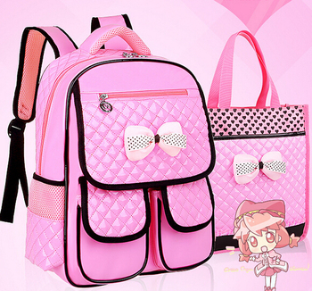 Brand Cute Pink 2pcs School Backpack for Girls Kids Backpacks for Primary Student Child Backpacks Teenagers Shoulder Bag BP00020 Top