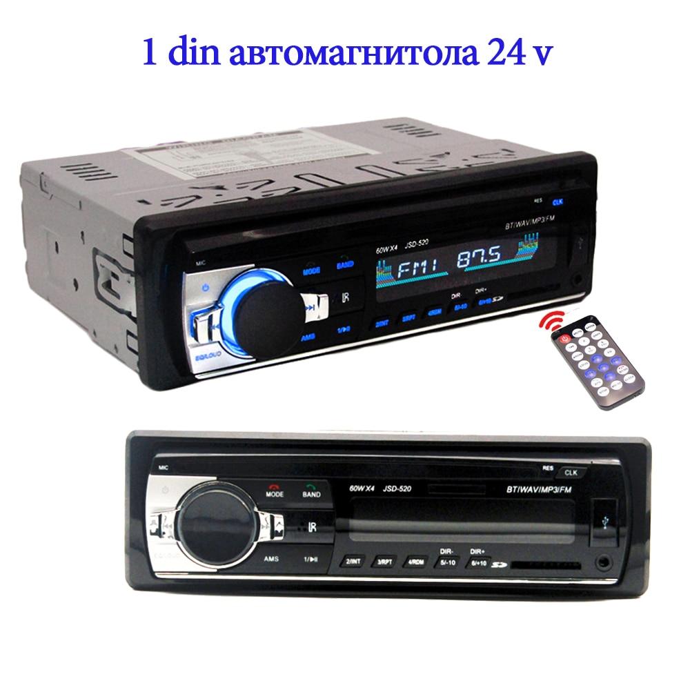 car radio 24 v radios autoradio 1 Din car audio JSD520 radio coche bluetooth 2.5'' Screen Stereo Automotive mp3 FM USB Auto