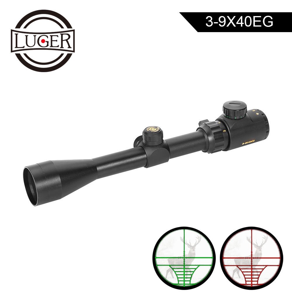 3-9X56 EG Hunting Red Green illuminated Mil-Dot Optical Gun Rifle Scope Mount