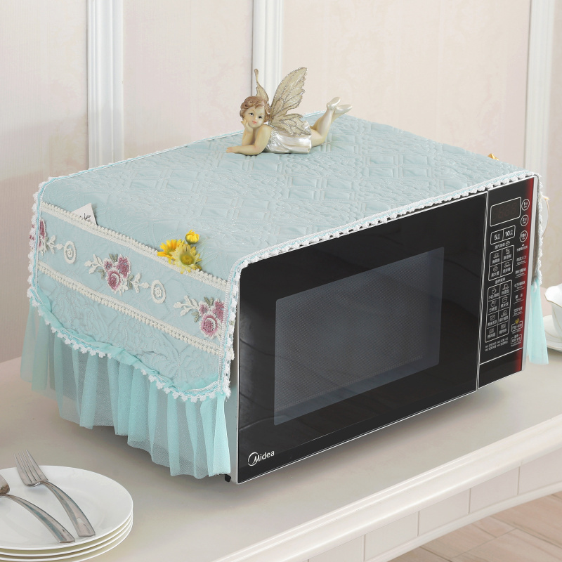 Thickening Beautiful Microwave Oven Cover Curtain Oven Defence Covering Cloth Purpose Kitchen Cover Cloth