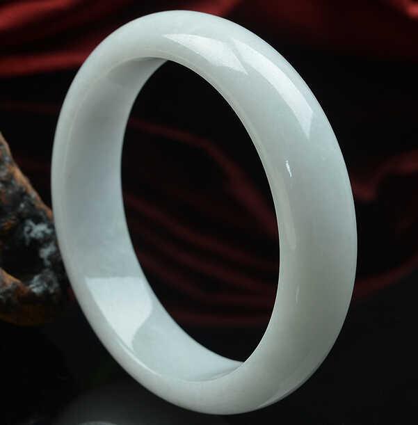 DYY 1028 +++ธรรมชาติสีขาวหยกข้าวเหนียวสร้อยข้อมือเลอบรอนพม่าหยกหยกแท้สร้อยข้อมือหญิงที่มีใบรับรอง