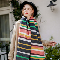 Fashion Brand Winter Women S Pashmina Striped Long Blanket Scarves Warm Females Cape Shawl Sjaal Bandana