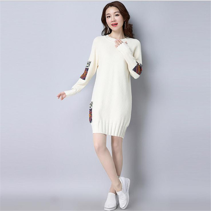 2018 New Style Autumn&Winter Women Long Wool Knitwear Dress Slim Ladies Pollovers Casual Warm Wool Outerwear Knitting ShirtCQ062