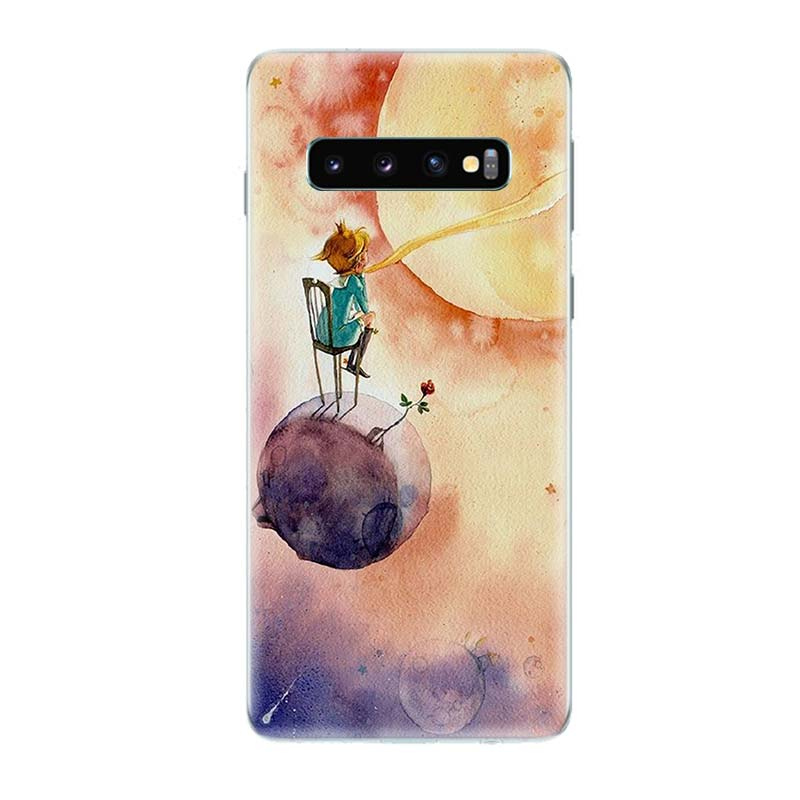 Lovely the Little Prince fox Phone Case for Samsung Galaxy S10 Plus S10E Lite A50 A70 A30 A10 A20E M20 M10 A20 A80 A40 Cover in Half wrapped Cases from Cellphones Telecommunications