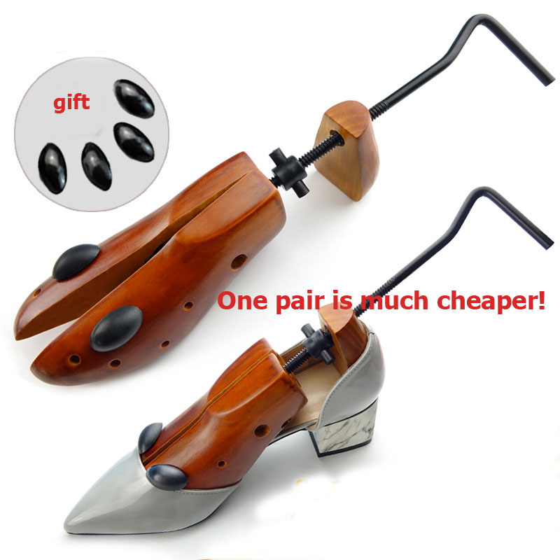1 Pc Unisex 2-way Adjustable Wooden Shoe Stretcher Shoe Expander For Men Shoe Tree Women High Heel Wood Shoe Rack Holder