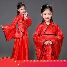 Childrens costume fairy princess Han Chinese clothing chaise improved girl dance photo studio performances