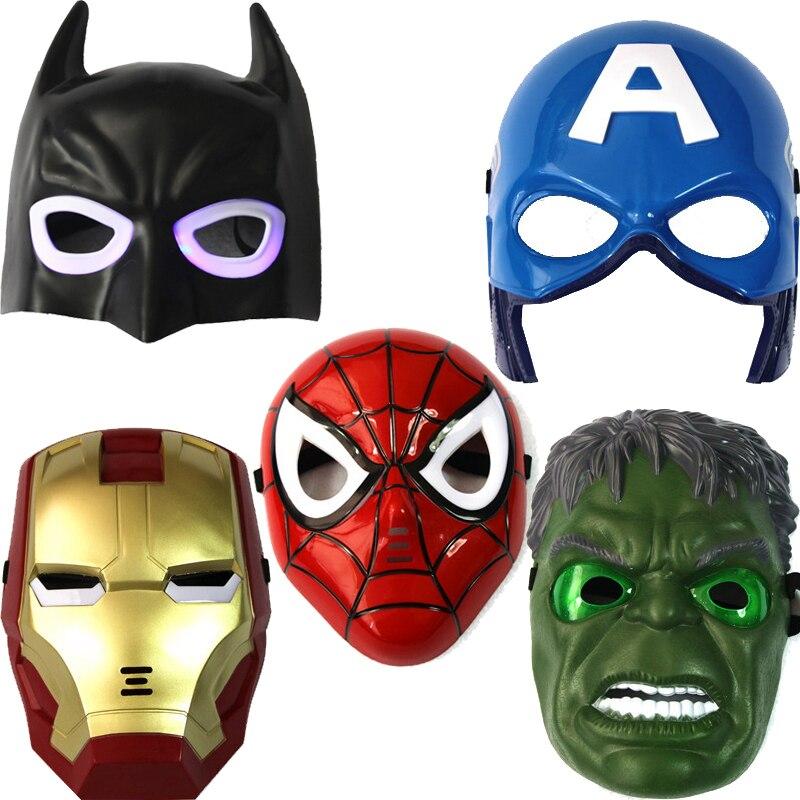 aliexpresscom buy led glowing lighting mask captain america spiderman hulk iron man batman masquerade party halloween cosplay mask good quality from