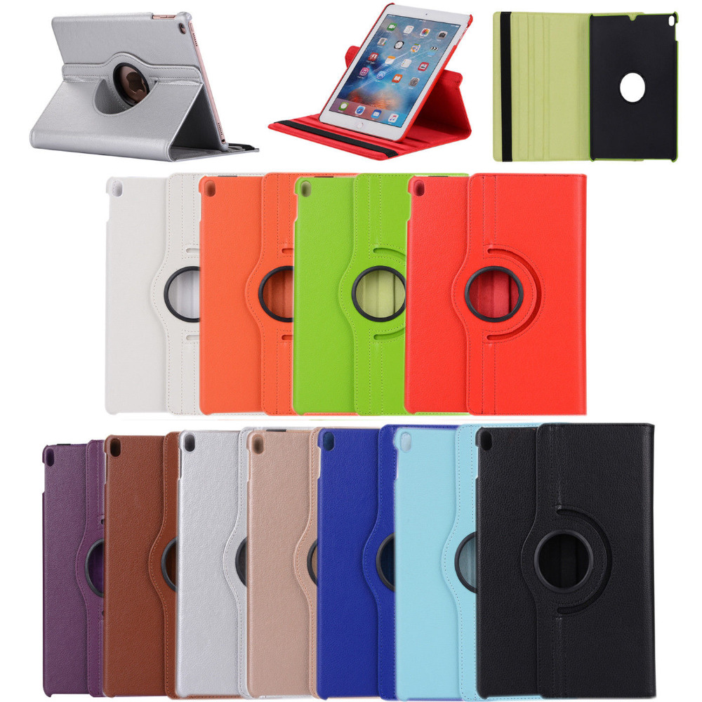 2018 New iPad Case For iPad 9.7 360 Degree Rotation PU Leather case For iPad Air 1/2 Smart Cover Flip Cases with Stand Function