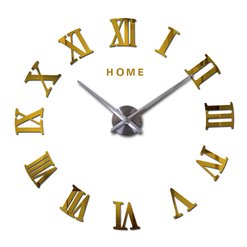 Detail Feedback Questions About Large Wall Clock 3d Diy Big Kitchen