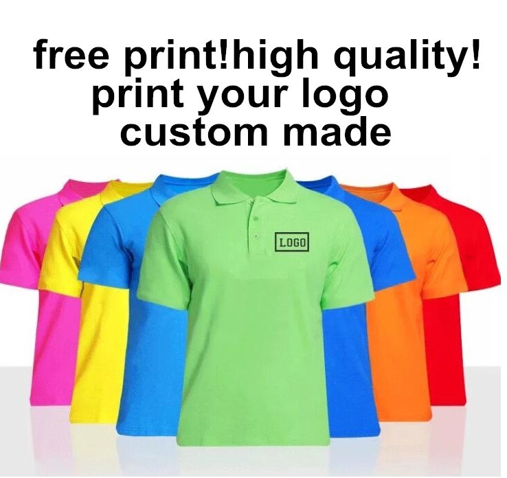Free Customized Logo Men/Women POLO T shirt Print Your Own Design High Quality  t shirts custom-made