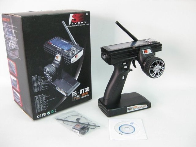 FS-GT3B 2.4G 3CH Gun Transmitter /w Receiver For RC Car Rc  Boat The best price + EMS free shipping  for  Baja 5b