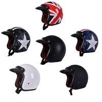 Motorcycle Durable Helmet Vintage Styling Motor Vehicle Helmets Fashion Star Motorbike ATV UTV Helmets Safe Racer Open Face