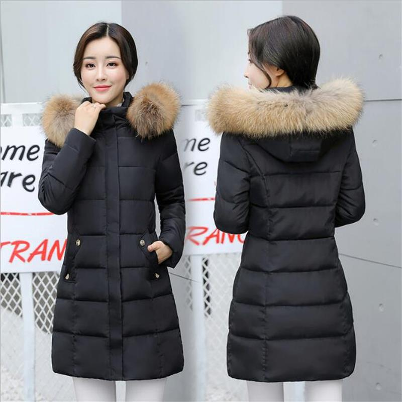 Winter Jacket Women Large Fur Collar Hooded Coat Parka Warm Padded Slim Women Cotton Jacket Plus Size Casual Outwear winter jacket women large fur collar hooded coat parka warm padded slim women cotton jacket plus size casual outwear