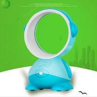 Cartoon Shape USB Mini Fan Portable Bladeless Fan Handheld Mini Cooler No Leaf Handy Fan With 3 Colors Mini Desktop Fan