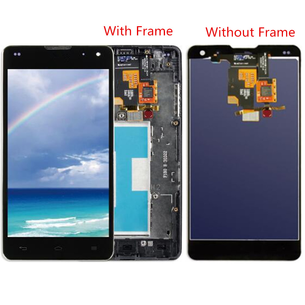 For LG Optimus G E971 E973 E975 LS970 F180 LCD Screen and Digitizer Assembly with Front Housing Replacement!!