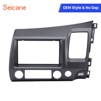 Seicane Classic Gray 2Din Car Radio Fascia Dash Trim Installation Kit for Honda Civic RHD Auto stereo Adapter Frame Panel
