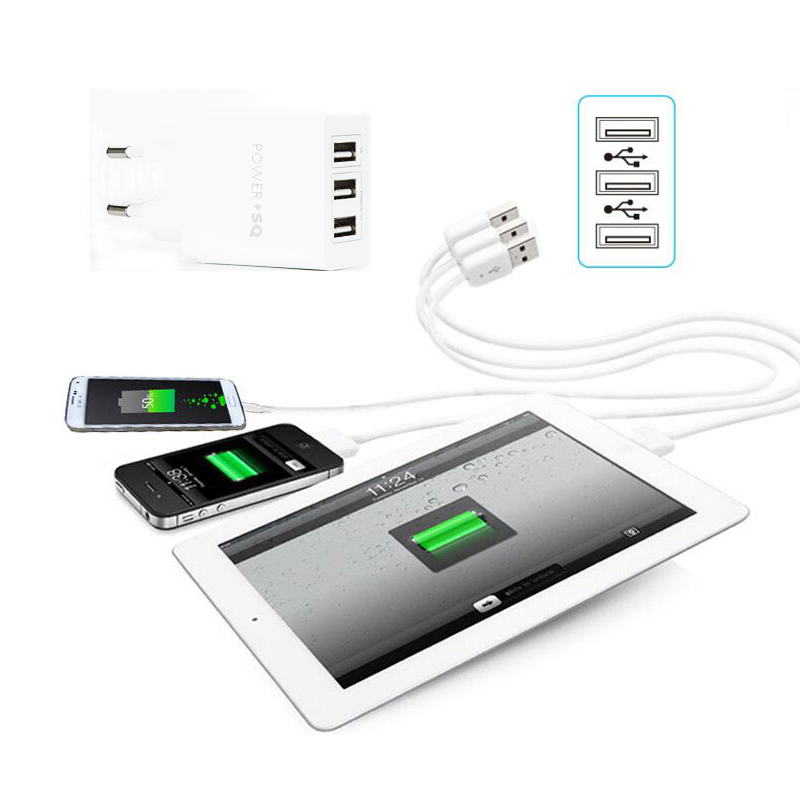INGMAYA 3 Port USB-laddare 3.1A snabbladdning för IPone 4S 5 5S 5C - Reservdelar och tillbehör för mobiltelefoner - Foto 5