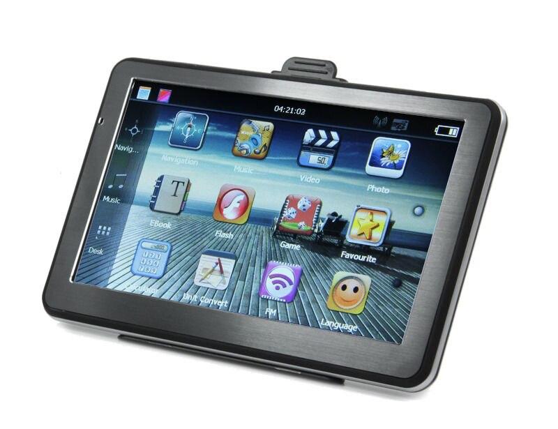 7 дюймов HD Сенсорный экран автомобиля GPS навигации 256 м 8 ГБ СБ навигатор fm-передатчик Buddle Последние бесплатная карты