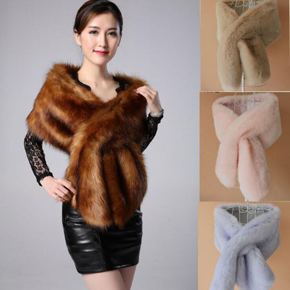 Brieuces super long wide faux fox fur wraps faux fur shawl bride warm pashmina winter manmad fur collar bridal cape