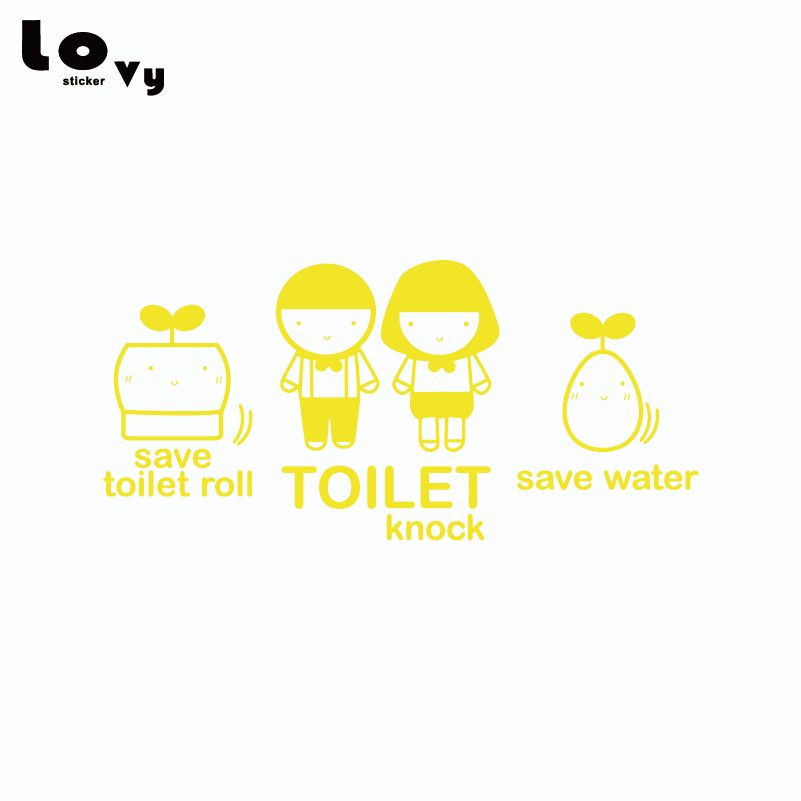3 Pcs / Set Funny Bathroom Toilet Waterproof Wall Sticker Creative ...