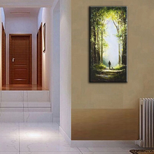 100% hand painted oil painting Home decoration high quality landscape knife painting pictures   DM16063002