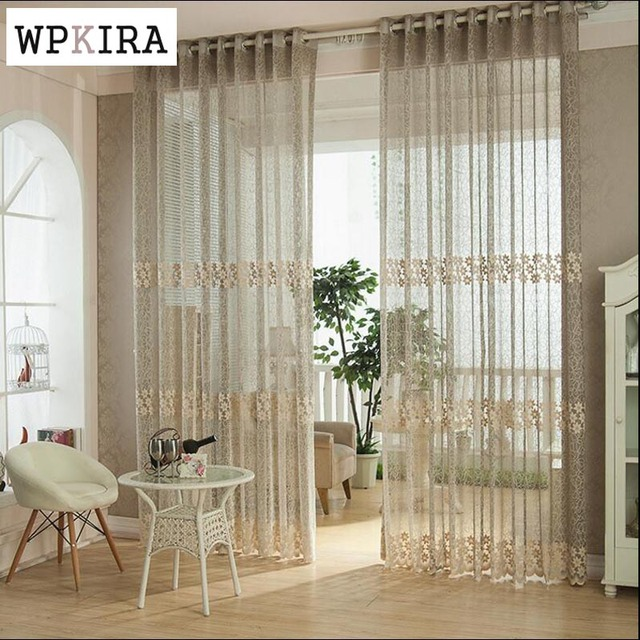High Quality Jacquard Window Screen Breathable Balcony Curtain Finished  Product Customize Curtain Sheer Living Room 095u002630