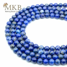 Lapis Lazuli Beads Natural Stone Round Beads For Jewelry Making 4 6 8 10mm Gem Spacer Perles Diy Bracelet Necklace Wholesale
