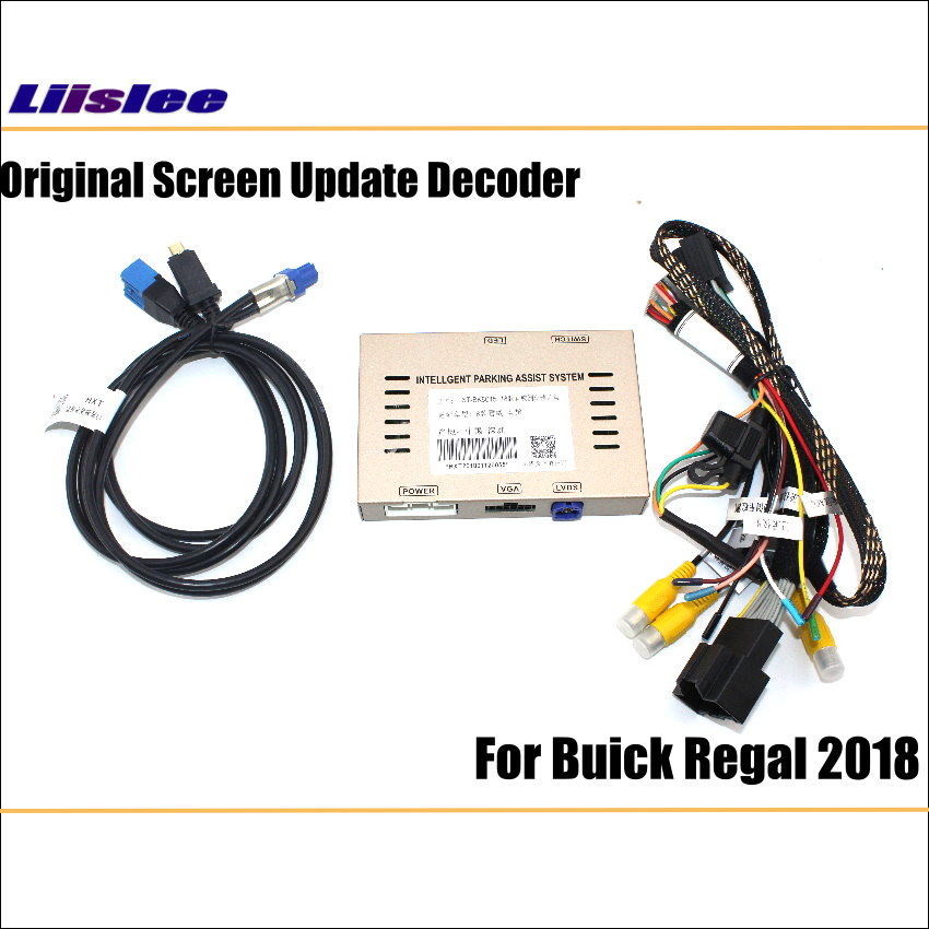 Liislee For Buick Regal 2018 Original Screen Update System  Reversing Track Image Module + Reverse Camera  Digital Decoder