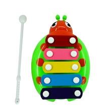 Купить с кэшбэком Children Musical Education Funny Toys Xylophone Wisdom Keyboard Instrument Educational Baby Toys with 5 Key Type for  Boys Girls
