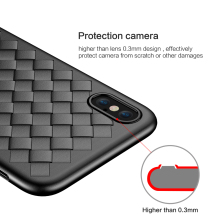 FLOVEME Super Soft Phone Case For iPhone 8 Luxury Grid Weaving Cases For iPhone 6 6s 7 8 Plus X XS Max Cover Silicon Accessories