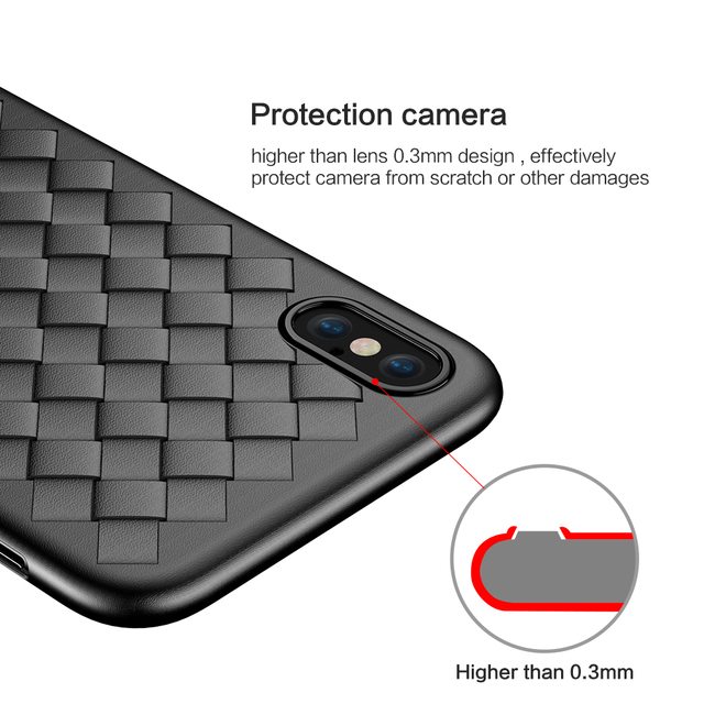 Woven Style Soft Case for iPhone 6 7 8 X and Plus
