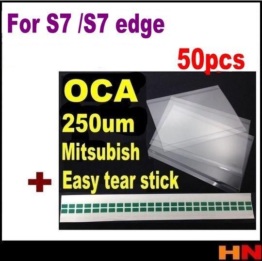 bilder für 50 stücke für mitsubishi 250um oca film optical klar adhesive kleber-aufkleber für samsung galaxy s7 edge lcd oca laminator