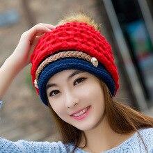 2017 Новая Мода Строки Зимние Шапки для Женщин Высокого Качества Популярные Зимние Шапки