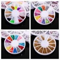 20 תיבות אקריליק נייל גליטר מדבקת ציפורן קישוט ציפורניים יהלומים מלאכותיים 3D DIY קישוטי אמנות ציפורן עיצוב גלגל צבעים